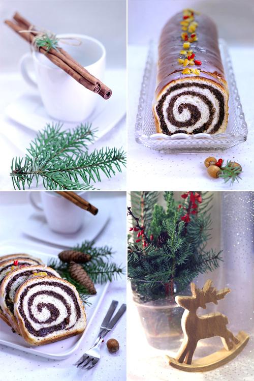makowiec zawijany świąteczna drożdżowa strucla z makiem