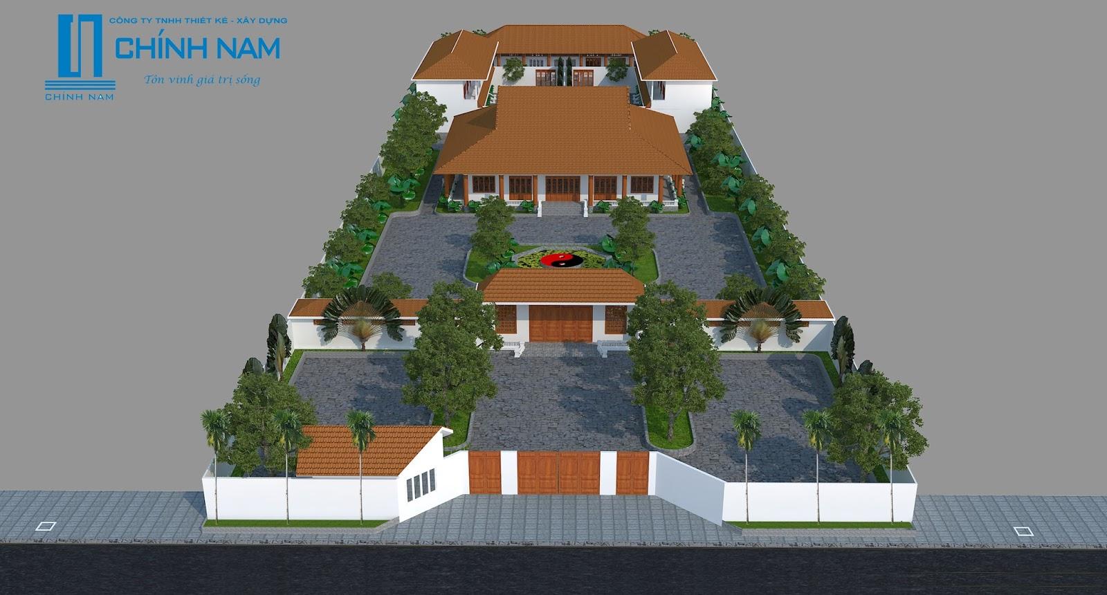 Kiên trúc Thiền viện ở Tam Phước - Biên Hòa - Đồng Nai