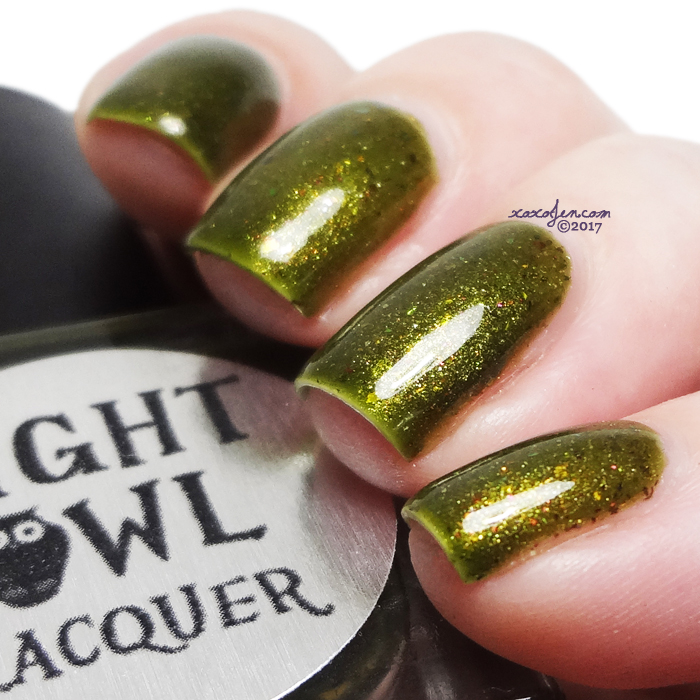 xoxoJen's swatch of Night Owl Lacquer: Pining For Fall