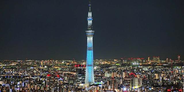 Uma das maiores torres de transmissão fica no Japão