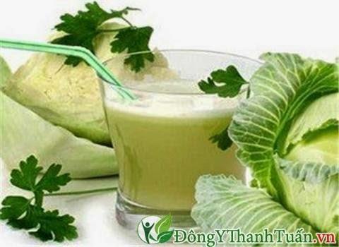nước ép bắp cải chữa bệnh đau dạ dày