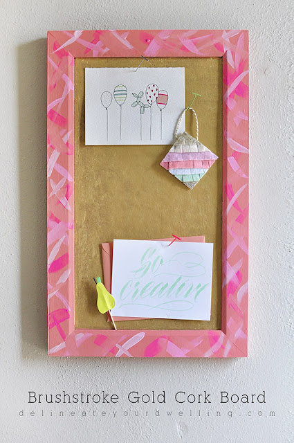 diy gold cork board