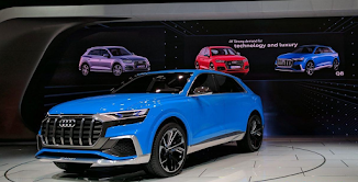 Audi Q8 CONCEPT Luxury SUV with four chairs