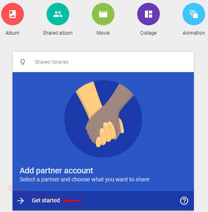 Merge Google Photos Album _add partner account