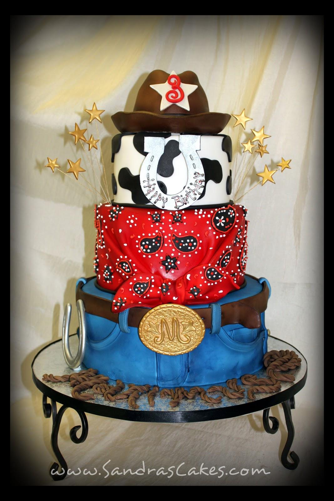 On Birthday Cakes Maximus Cowboy Theme Cake