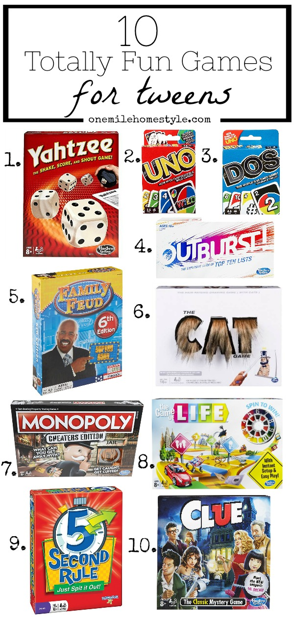 Top 10 Fun Board Games for Tweens