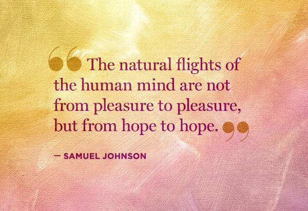 Samuel Johnson hope quote