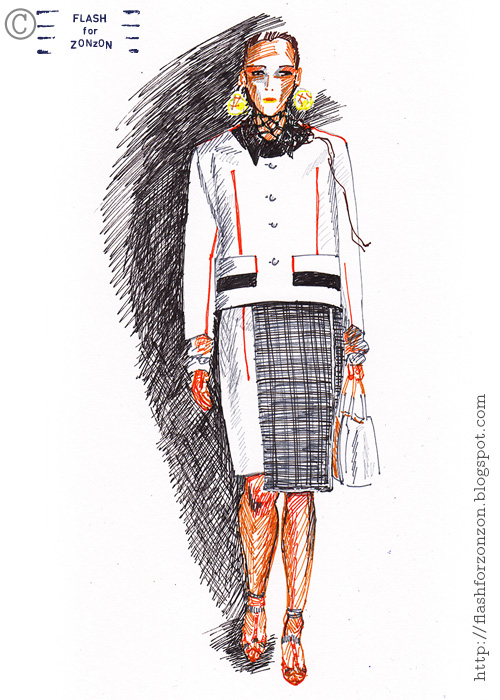 Prada ss 2016 fashion illustration.