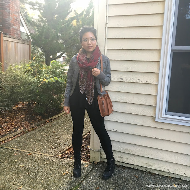 OOTD Red Leopard Print Scarf Outfit Gamiss Review - Andrea Tiffany A Glimpse of Glam