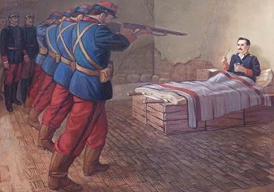 Dibujo de la muerte de Leoncio Prado
