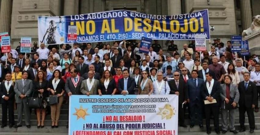 Colegio de Abogados de Lima serían desalojados esta mañana