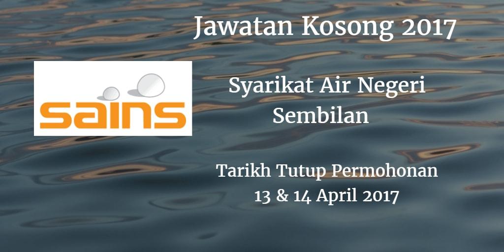 Jawatan Kosong SAINS 13  & 14 April 2017.