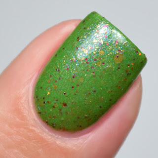 green crelly nail polish