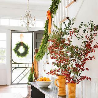 decoración escalera navideña