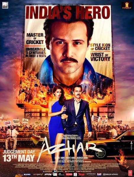 Poster Of Azhar 2016 720p Hindi DVDRip Full Movie Download