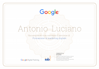 attestato certificazione marketing digitale formazione google