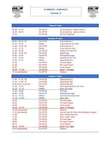 WTCR schedule