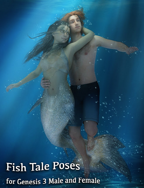 Fish Tale Poses for Genesis 3 Male and Female