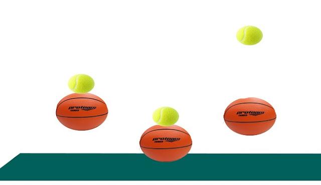 Percobaan Fisika : Transfer Energi melalui Bola Memantul