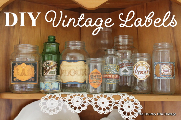 DIY Vintage Labels
