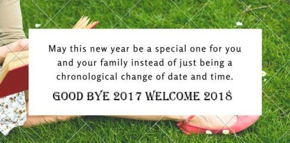 Goodbye 2017 Welcome 2018 Messages SMS Image