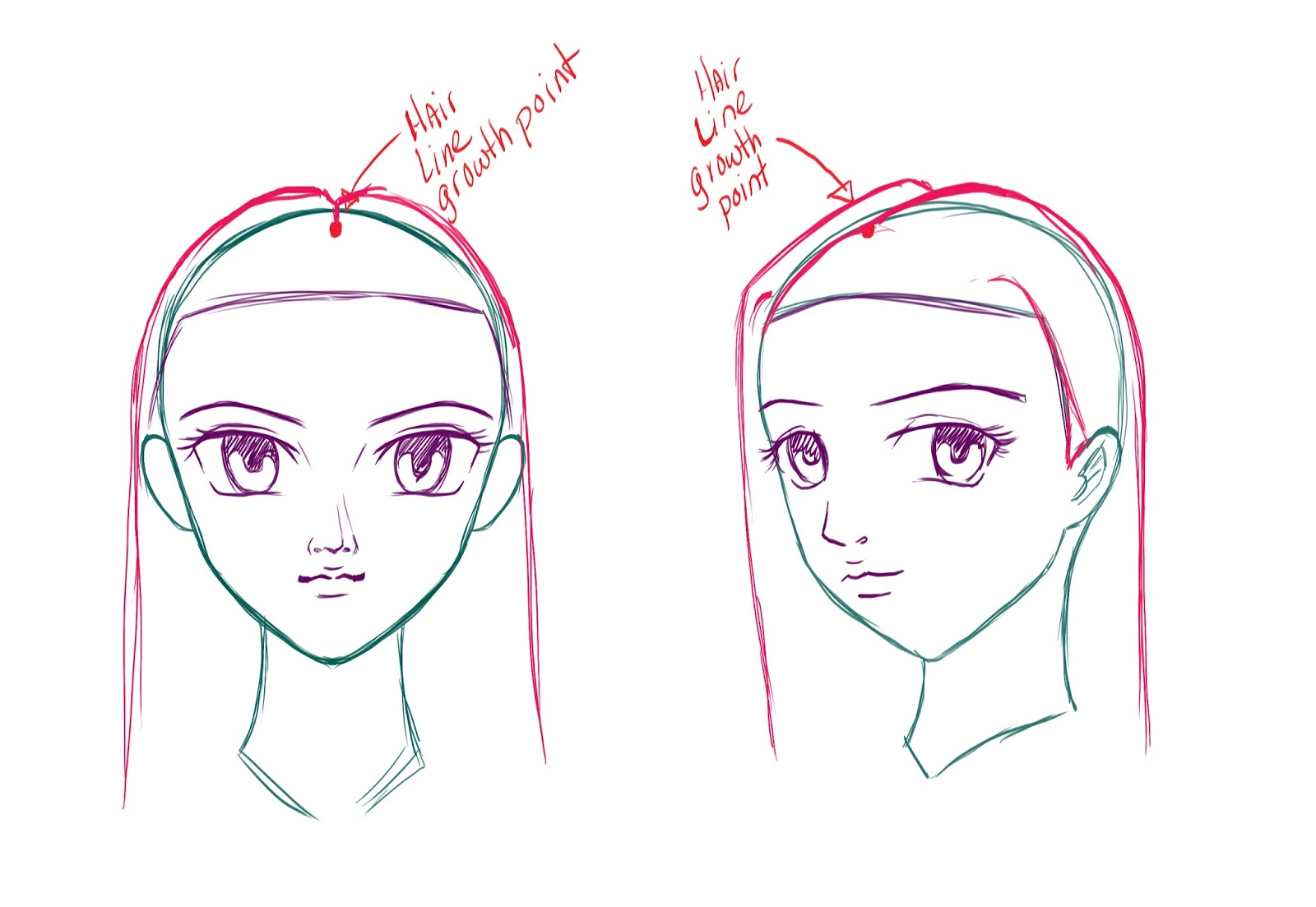 How to Draw Anime/Manga Hair - Draw Central