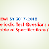 NEW! SY 2017-2018 Periodic Test Questions with Table of Specifications (TOS) for Grades 1-10