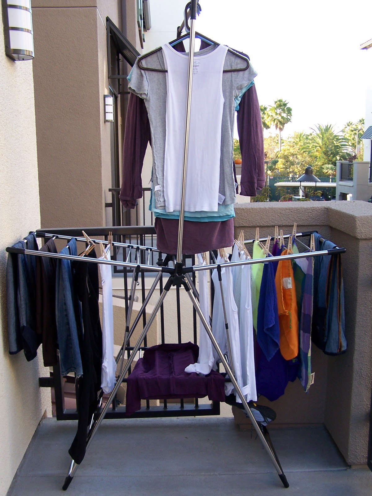 Hanging Out Laundry To Dry Even In A Dorm Room Treading Lightly