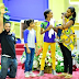 Adorable family photo of Majid Michel in church