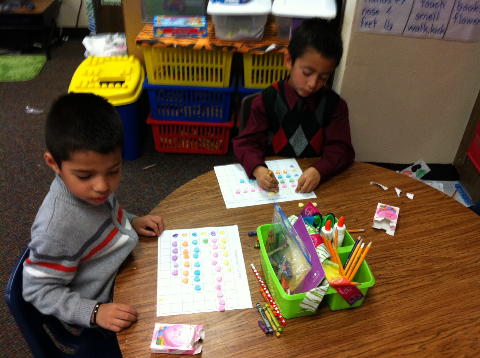 Mrs Clark S Kinder Korner Conversation Heart Graphing