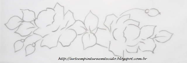 desenho para pintar pano de prato