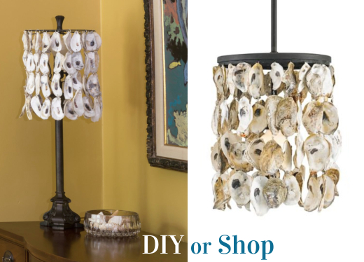 Oyster Shell Lamp Ideas