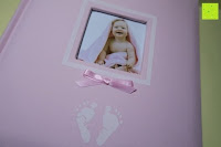 vorne: Levivo Baby Fotoalbum für 200 Fotos, Classic, Rosa