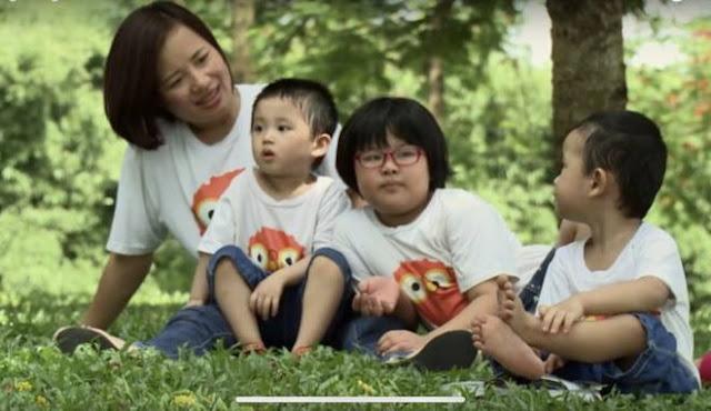 Chị Dung và các con