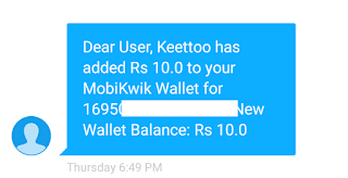 Keetto keyboard app Rs10 free mobikwik on sign up