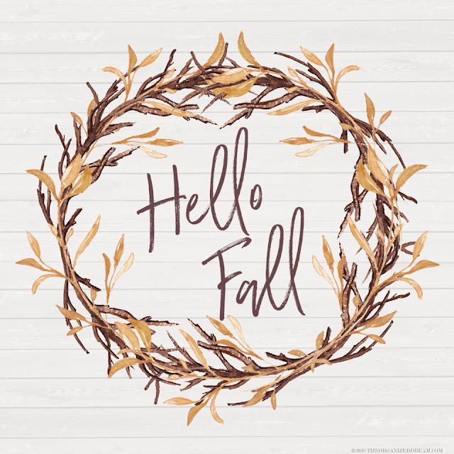 Free Hello Fall  printable.