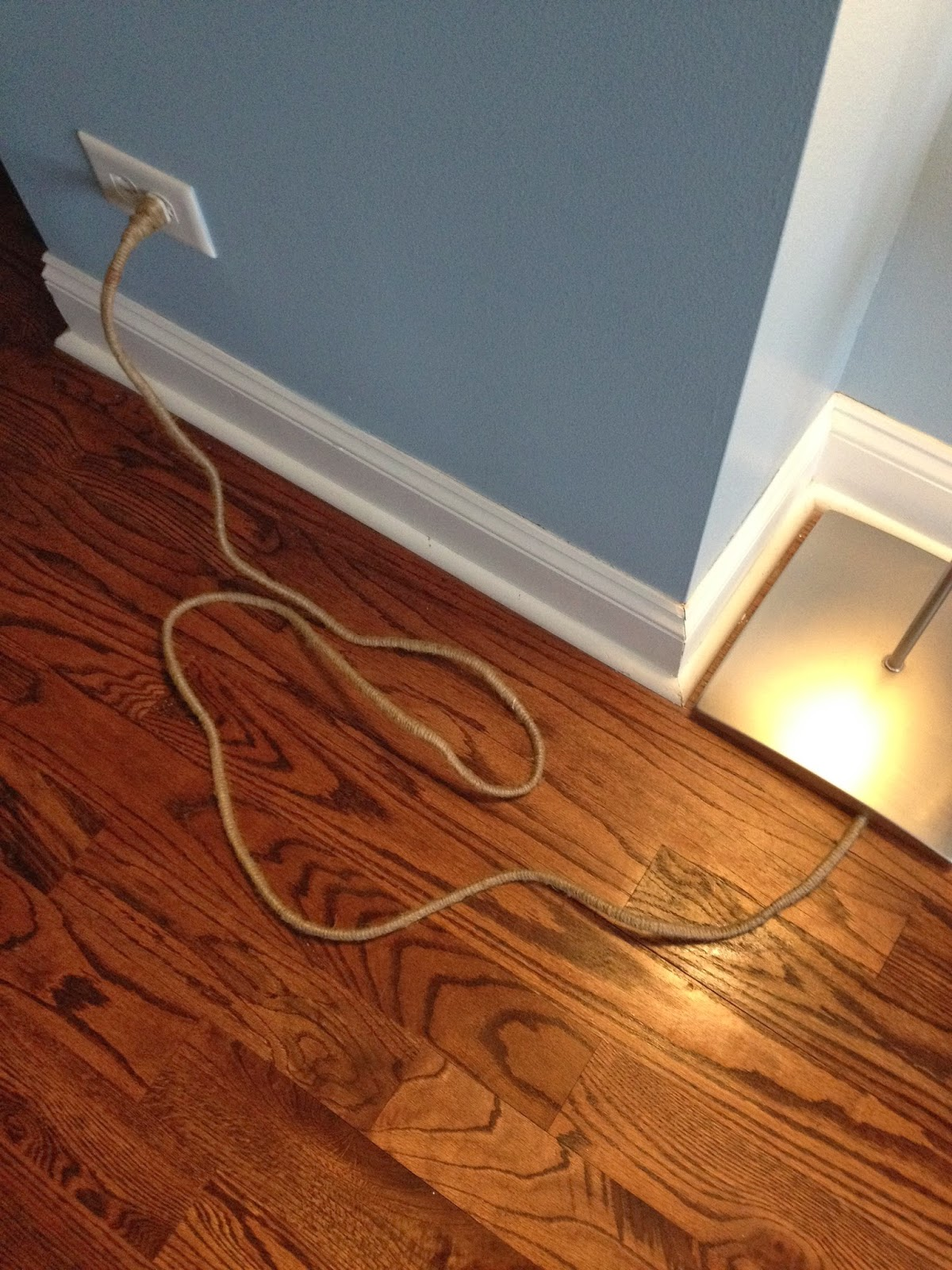 twine covered power cord