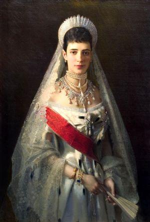 Maria Feodorovna - Ivan Kramskoi