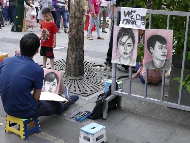 Sài Gòn cũng có họa sĩ đường phố