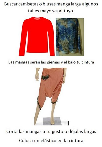 camisetas, refashion, transformar, pantalones, bricomoda, harem