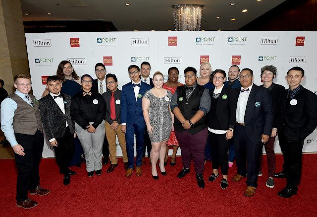 Point Foundation Scholarship Recipients at Point Honors Los Angeles 2017, benefiting Point Foundation, at The Beverly Hilton Hotel on October 7, 2017 in Beverly Hills, California.