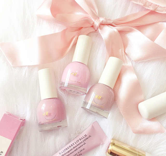 H&M Nail Polish | Chalky Pink, Bubblegum & Sepia