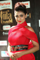 Apoorva in a Stunning Tight Leg Split Sleeveless Red Gown at IIFA Utsavam Awards 30.JPG