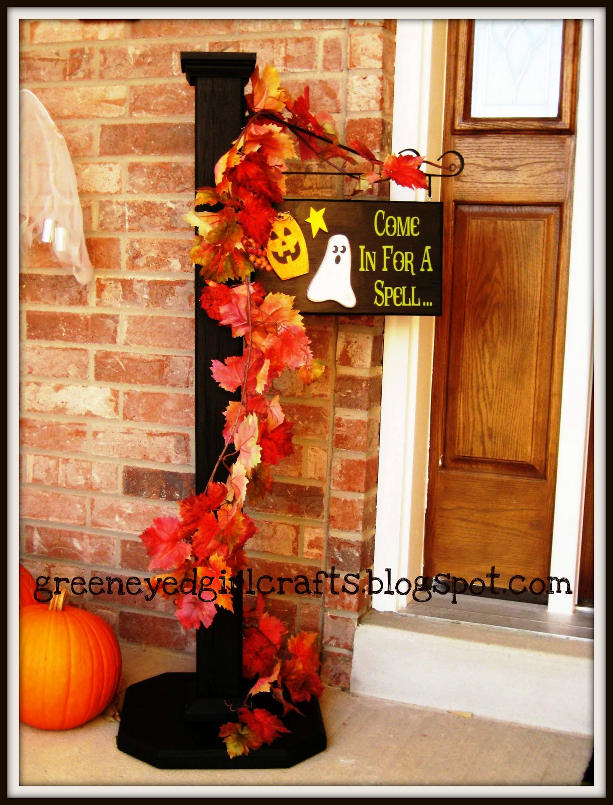 Green Eyed Girl Crafts Welcome Post