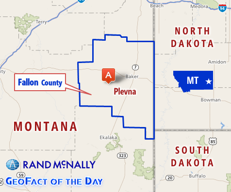 Map of Plevna, Montana