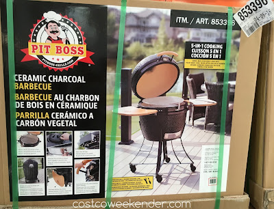 Costco 853396 - Just in time for the summer barbecue season comes the Pit Boss Ceramic Charcoal Barbecue Grill (model 71240)