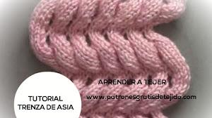 Aprende a tejer Trenza de Asia