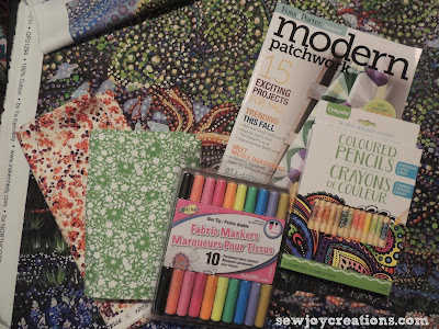 fabric and markers addition to stash