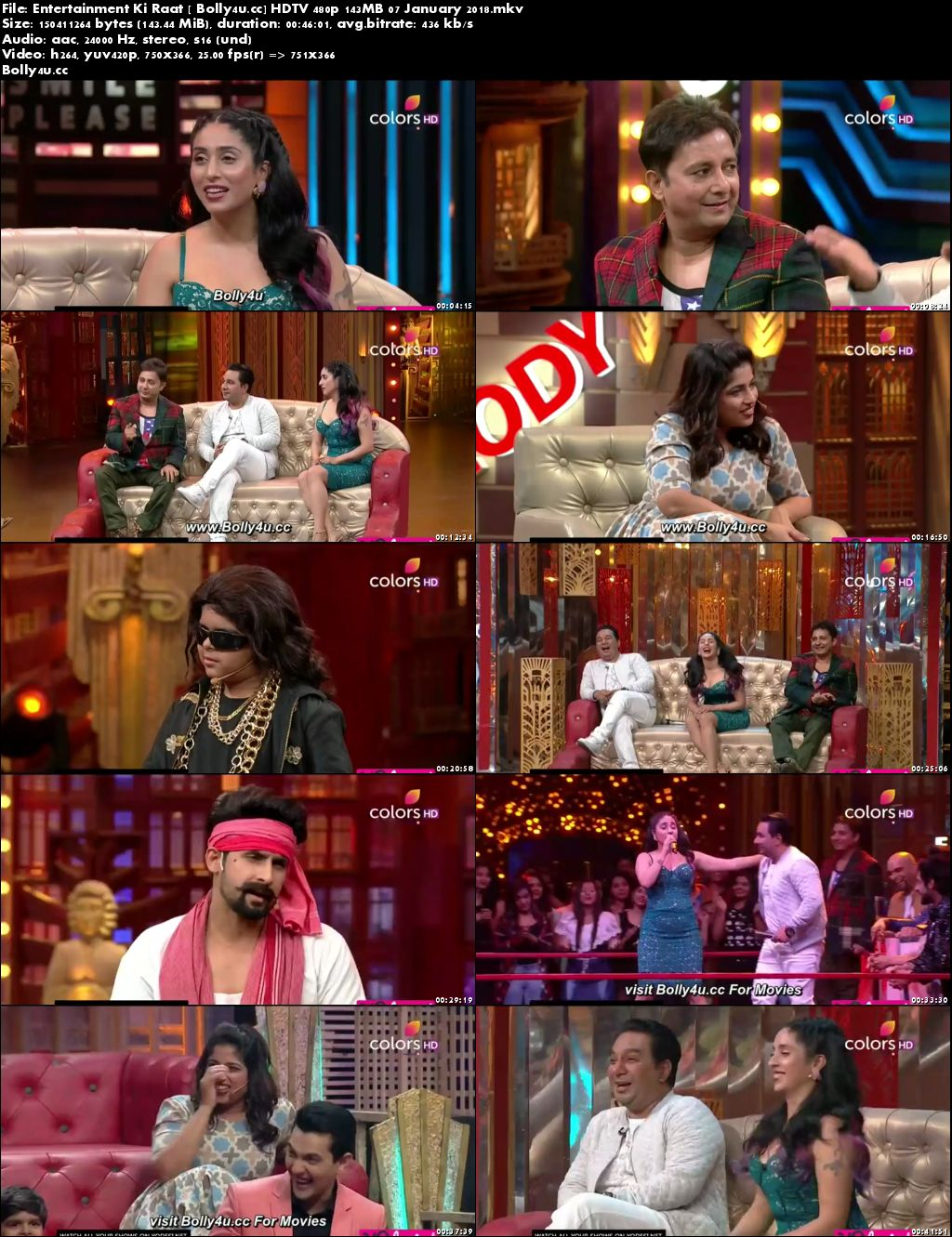 Entertainment Ki Raat HDTV 480p 140MB 07 January 2018 Download