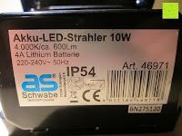 Infos: as - Schwabe Chip-LED-Akku-Strahler 10 W, geeignet für Außenbereich, Gewerbe, blau, 46971